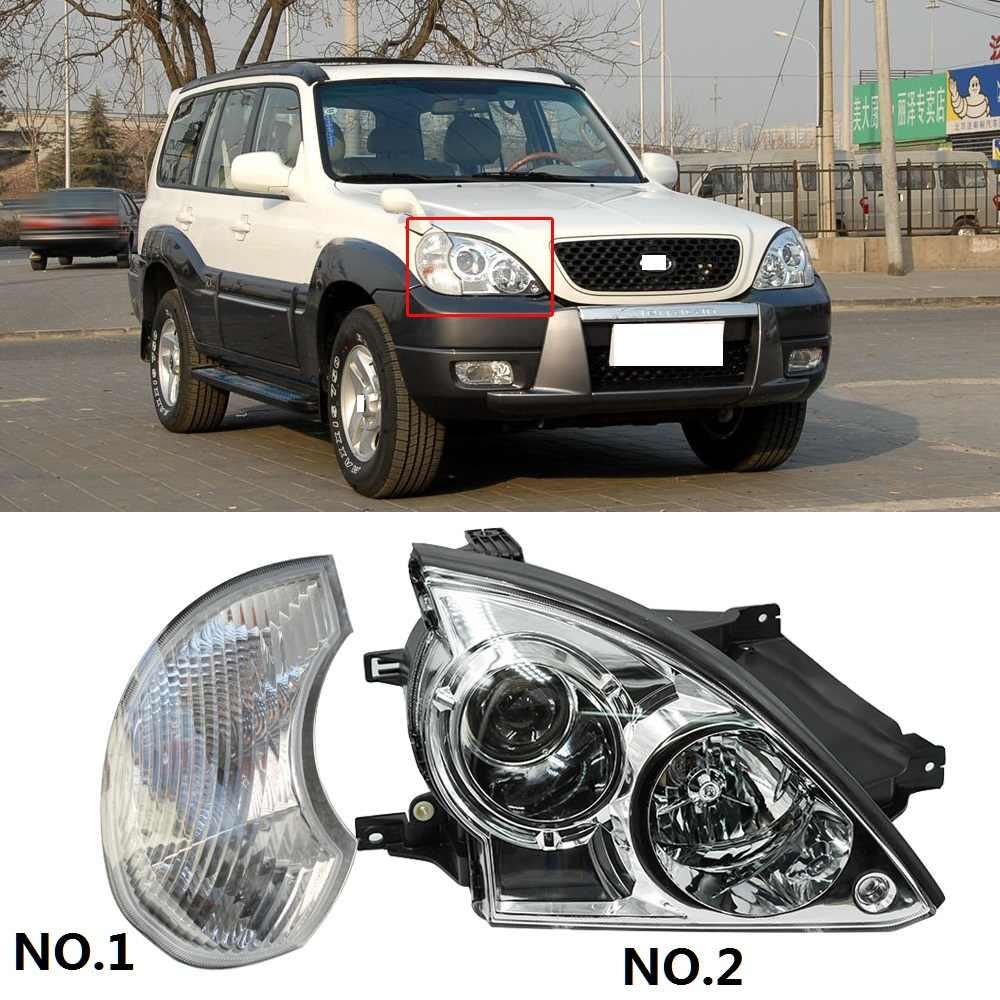 CAPQX 1pc pour Hyundai terrasses 01-08 phare avant phare phare côté garde-boue lumière coin clignotant feu de position