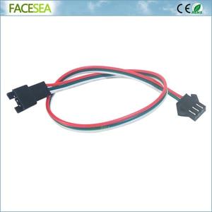 Image 3 - 100 adet 3 pin JST SM konektörü 30cm 50cm 1m 2m Led erkek dişi fiş LED konnektör kablo tel için WS2812B WS2811 SK6812 LED şerit