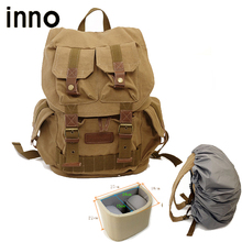 Canvas SLR Camera Backpacks with Paitition Padded Digital SLR Camera Photo Bag Waterproof Casual Backpacks for Brand DSLR Camera