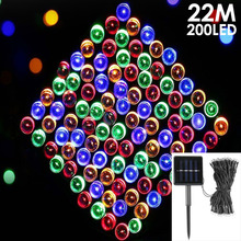 22m 200LED Solar Powered Outdoor Fairy String Lights  for Garden Christmas Wedding Party Decoration