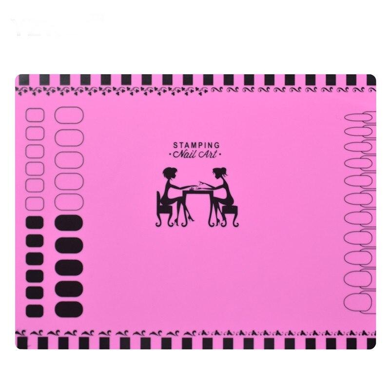 1 Blatt Silikon Stanzen Matte 40,5 Cm * 30,5 Cm Faltbare Waschbar Pad Nail Art Werkzeug Für Maniküre, 3 Arten Für Wählen Aromatischer Geschmack