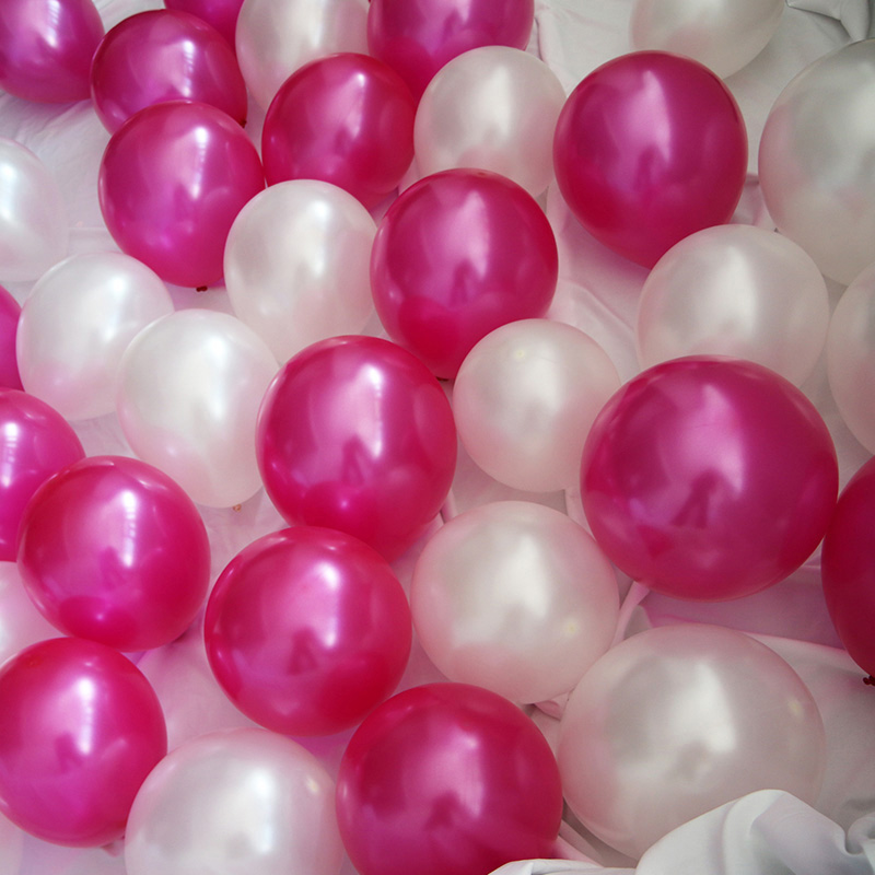 50 pcs lot 12 inch 2 8g Latex balloon Round balloons Thick Pearl Wine red rose gold balloons Wedding Party Birthday Baby in Ballons Accessories from Home Garden