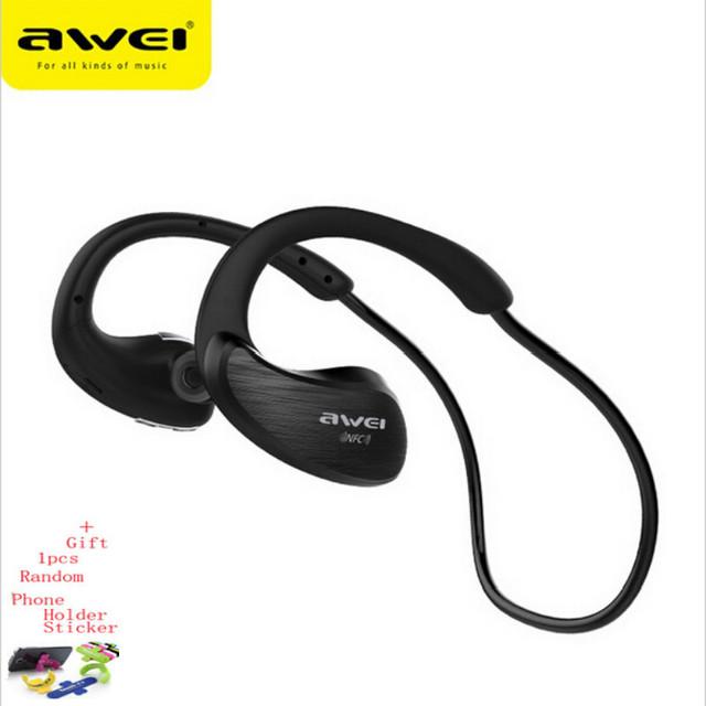 Awei a885bl bluetooth headset auriculares deportes micrófono inalámbrico ipx4 impermeable con nfc aptx deporte auriculares para correr gimnasio