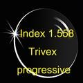 Índice 1.558 trivex envío lente de forma progresiva (UV400) HMC alto impacto resistencia segura