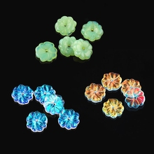 15x15x3.5mm flower shape charms beads glass smooth crystal pendant for Jewelry making earring accessories 10pcs/lot