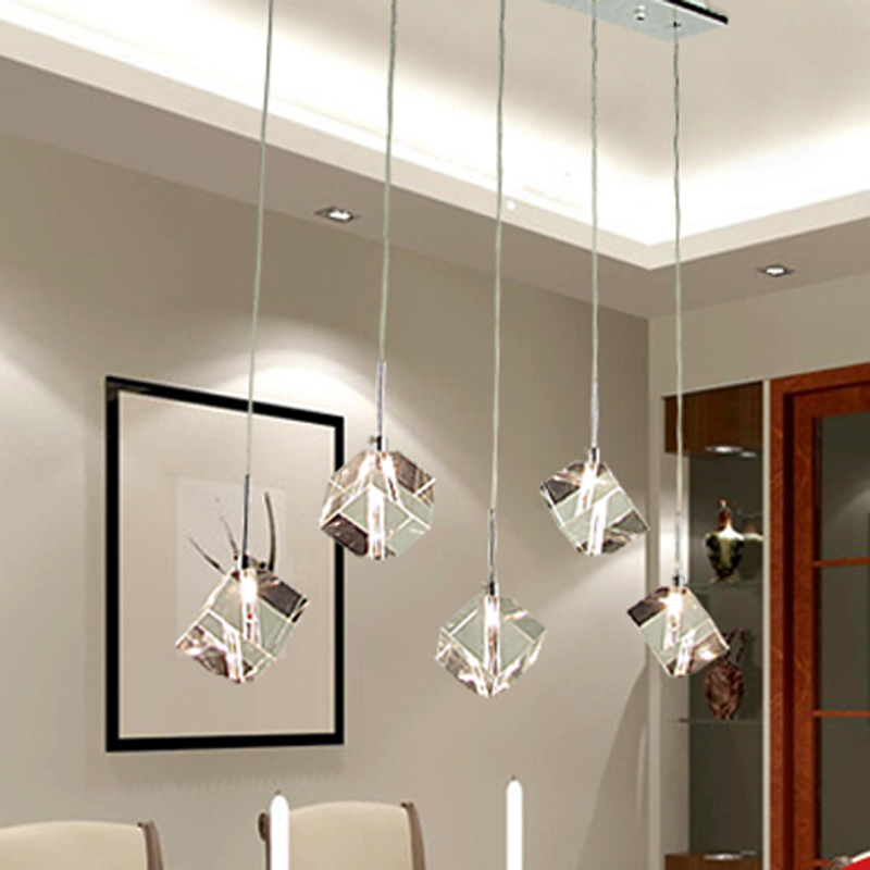 T Transparent Crystal LED Dining Room Bar Pendant Light Modern Fashion Lamps  For Home Living Room Simple Creative DHL Free In Pendant Lights From Lights  ...