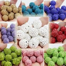 50pcs 16mm Shamballa Beads Crystal Disco Ball Beads Shambhala Spacer Beads,Shamballa bracelet Crystal Clay DIY Jewelry PJW114