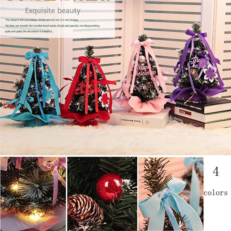 Miniature Artificial Christmas Trees: 30cm LED Artificial Tabletop Christmas Mini Tree