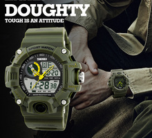 Caliente GTM hombres CAMO del ejército relojes negocios reloj Militar brillante reloj Natación Correr ciclo Chrono CAMO reloj electrónico