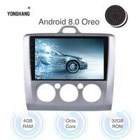 9 автомобиль радио gps Android 8,0/8,1 для Ford Focus 2 3 Mk2/Mk3 фокус 2002 2008 встроенный WI FI BT RDS SWC 4 аппарат не привязан к оператору сотовой связи Carplay давления