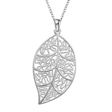 925 Sterling Silver Creative Leaf Pendant Necklace for Women European and American Trendy Style Fine Jewelry Halloween Ornament