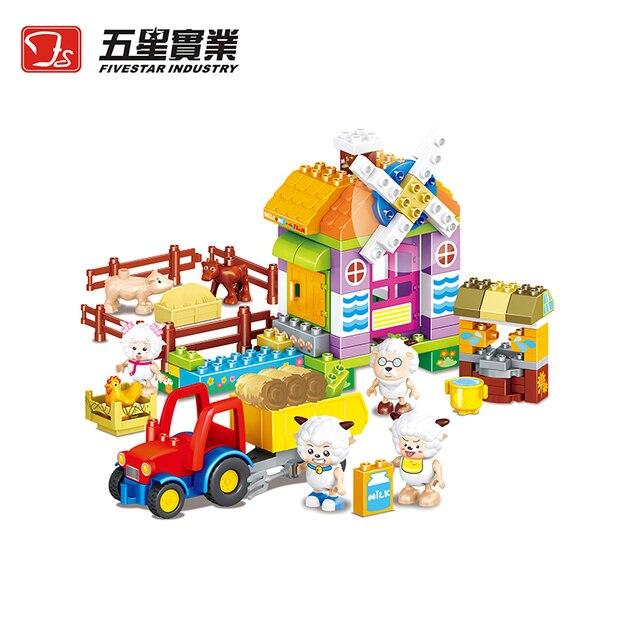 123 Pcs Plastic Building Toys For Children Building Blocks Toys For