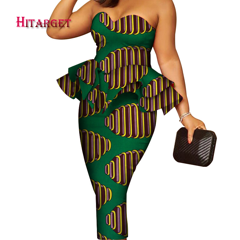 Party/wedding Dress With Breast-wipe Style African Print Dresses Traditional Dress African Dresses For Women  Customized  WY4018