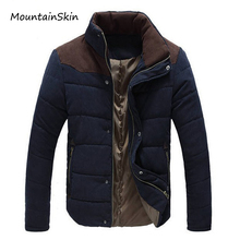 Mountainskin 2017 New Winter Men's Jacket Warm Thick Men Parkas Fashion Thermal Solid Male Coats Casual Brand Clothing LA144