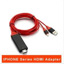8 PINOS Para O Cabo MHL 2 M Para Um Raio para HDMI Conversor iphone8/x/7 HDTV 1080 P Adaptador de áudio Para O Jogo de Exibição de Vídeo