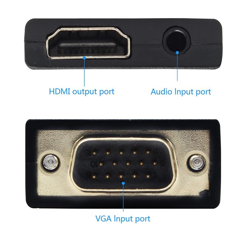 mini vga to hdmi converter interface.800