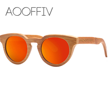 AOOFFIV Wood Sunglasses Women Polarized Lens Sun Glasses Bamboo Frame Eyewear 2017 New Designer Shades UV400 Protection ZA05