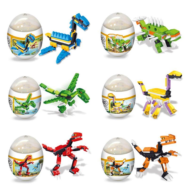 1 Pc assemblage dinosaure modèles Mini bricolage enfants enfants développement Puzzel oeufs jouets anniversaire cadeau couleur aléatoire