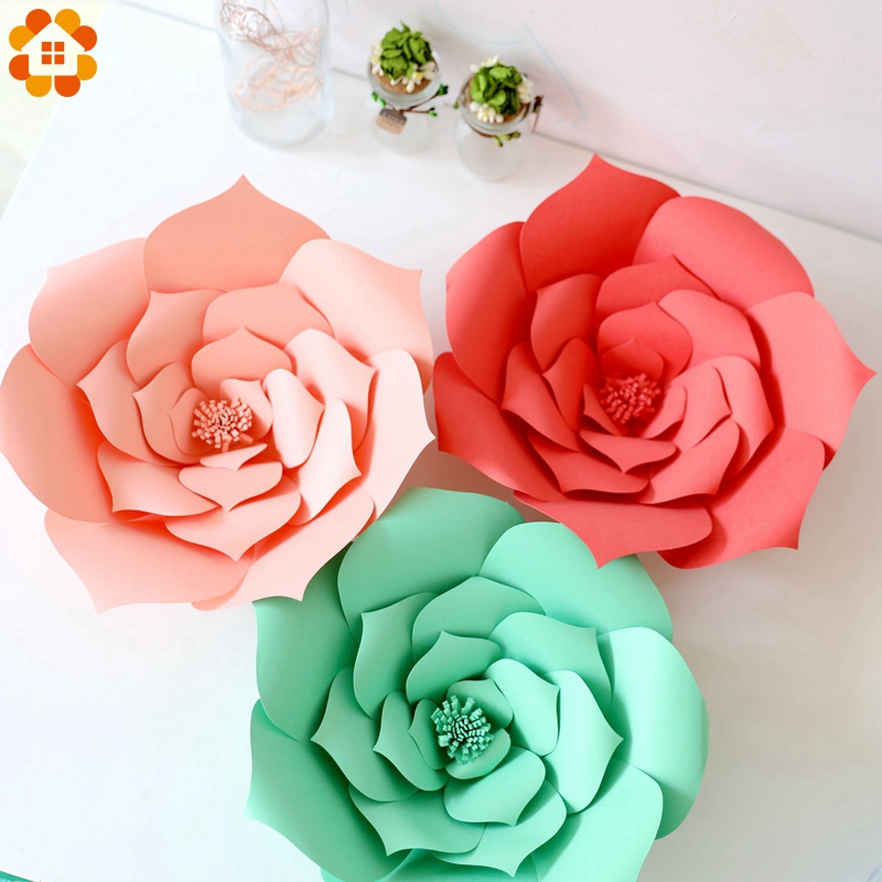 2PCS/Bag 20CM DIY Paper Flowers Backdrop Decor Home Garden Wedding Kids Birthday Hen Party Decoration Baby Shower Supplies