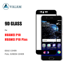 VALAM Tempered Glass Screen Protector For Huawei P10 Plus 9H Hardness Full Cover 3D Curved Edge