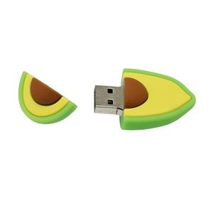 Image 3 - עט כונן 128G חמוד קריקטורה אבוקדו אגס פירות USB דיסק און קי 8gb 16gb 32gb 64gb USB 2.0 זיכרון פלאש מקל דיסק 256GB Pendrive