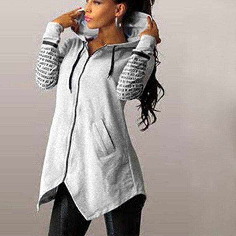Sudaderas de mujer con capucha de manga larga 2019