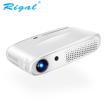 Rigal RD602 DLP Mini 3D Projector 600ANSI Lumens Android WiFi Projector Active Shutter 3D Full HD 1080P Business Home LED Beamer