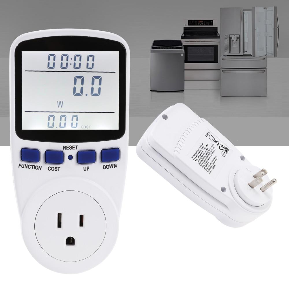 LCD Numérique Wattmet Power Meter Socket Énergie Moniteur Watt Voltage Ampère Analyseur Électronique Compteur D'énergie De Mesure Prise de courant