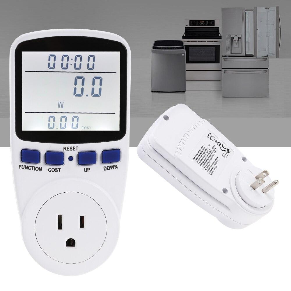Monitor de energía del enchufe del medidor de potencia de la pantalla LCD Salida de medición del voltaje de vatios