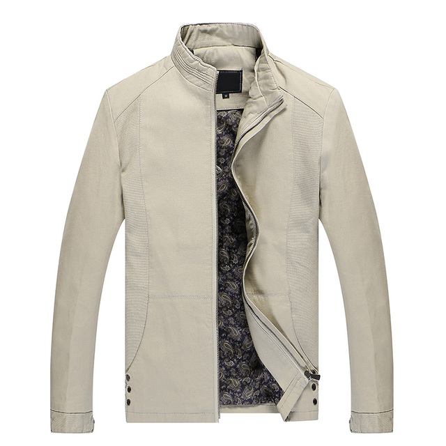 Men 2017 New Fashion Brand Solid Jacket Hot Sale High Quality Spring Autumn Slim Fit Hombre Coats Male Large Size Clothes M-4XL