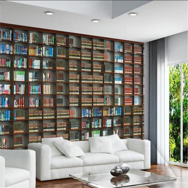 beibehang custom 3d wall paper 3d stereo boekenkast boekenkast behang tv sofa woonkamer slaapkamer achtergrond muur