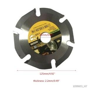 Image 3 - 125mm 6 מסור עגול להב Multitool מטחנת מסור דיסק קרביד עץ חיתוך דיסק גילוף להבים עבור זווית מטחנות