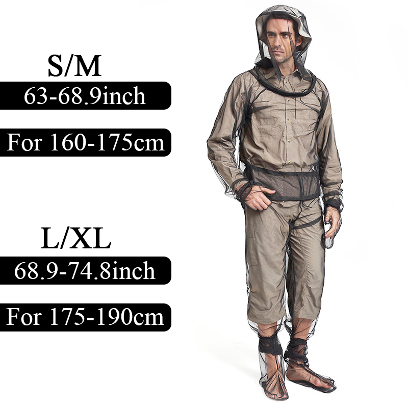 Unisex Mesh Net Insect Suit Anti Partial Suit Quick-drying Breathable Mosquito Clothes Partial And One Suit Outdoor Fishing Ect