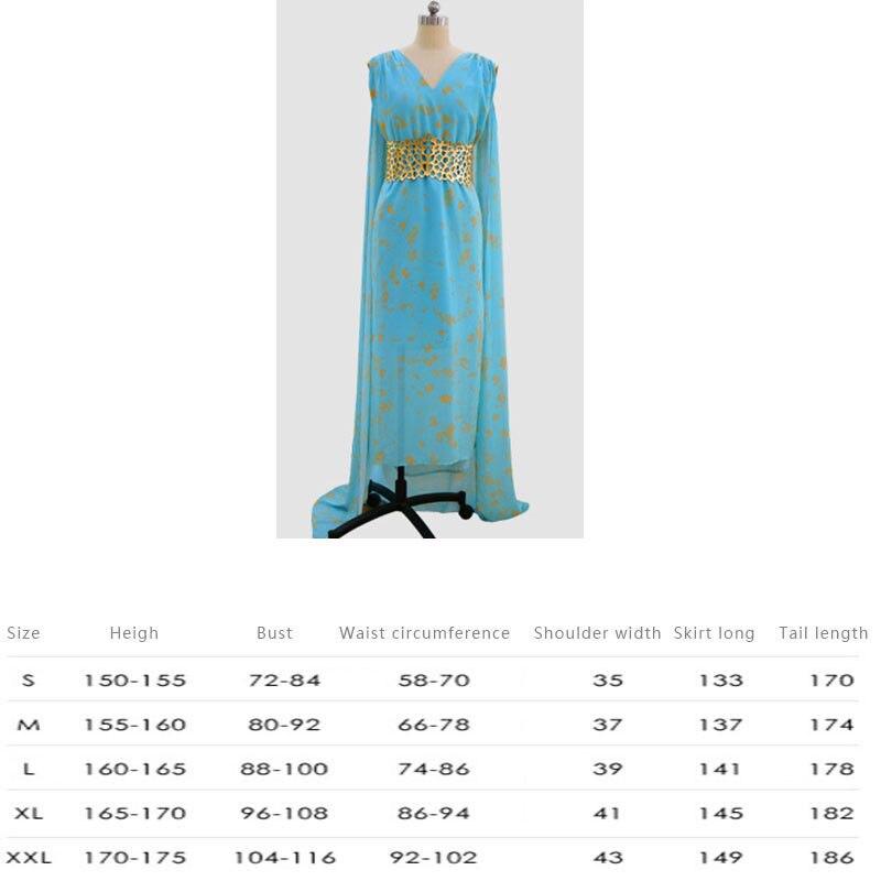 Game Of Thrones Cosplay Daenerys Targaryen Wedding Dress Costume