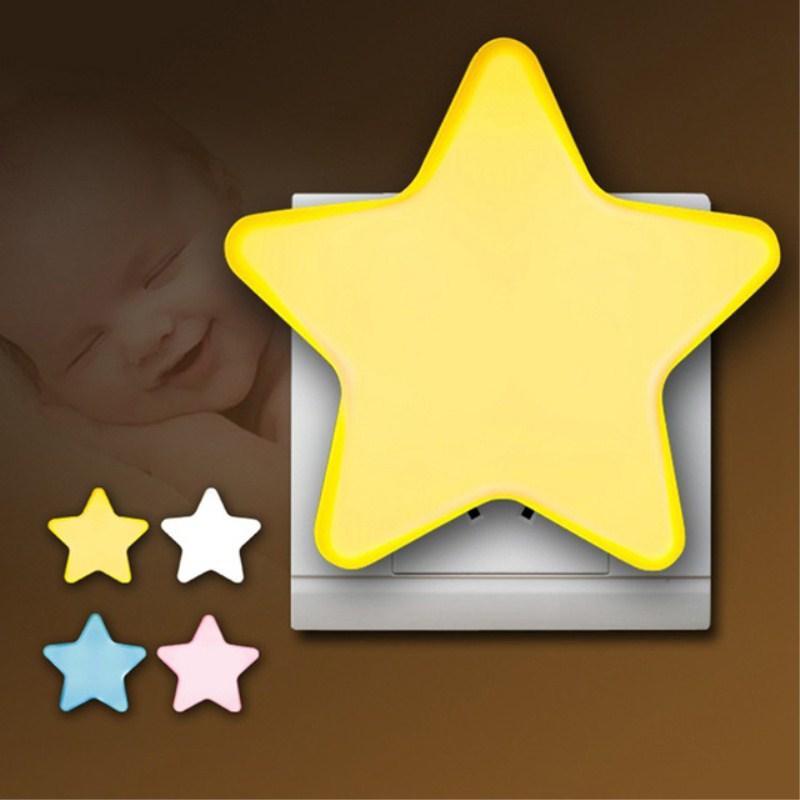 Light Sensor Control Mini Star LED Night Light For Dark Night Children Bedroom Bedside Lamp With EU/US Plug Baby Sleeping Light