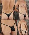 Tipo saco * 3210 * sexy lingerie t-voltar thong g-corda t calças dos homens breve underwear frete grátis