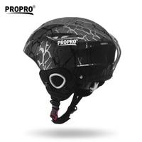 PROPRO Adult Teens Professional Skiing Helmet Skateboard Helmet Motor Rider Integrally Molded Breathable Ski Helmet