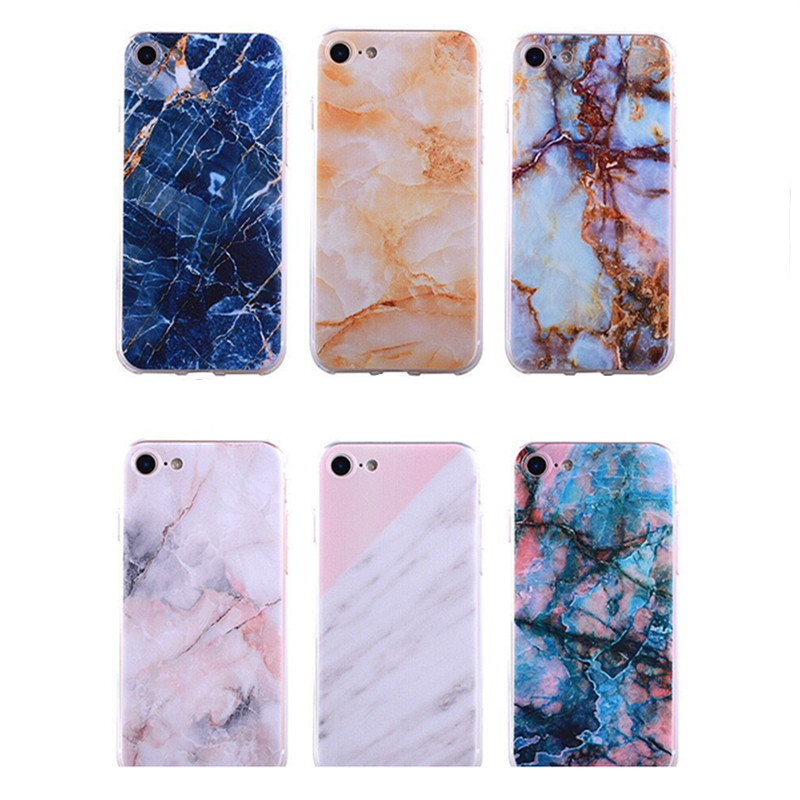 New Fashion Stone Marble Case For iPhone7 Back Cover Mobile Phone Silicone Plastic TPU Cases For iPhone7 Coque For iPhone7plus