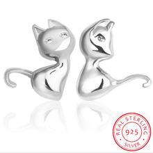 Серьги в виде кошки из стерлингового серебра 925 пробы яркие