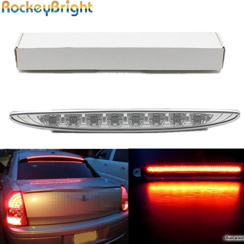 Rockeybright 1set Třetí brzdové led světlo Pro 2002-2006 MINI Cooper R50 R53 Clear Lens Red 8-LED 3. brzdové světlo led parkovací lampa