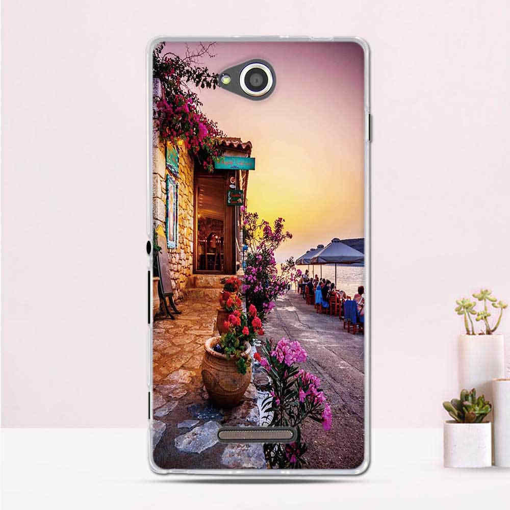 """Case untuk Sony Xperia C S39H C2305 Case Cover 5.0 """"Ponsel Cover UNTUK SONY Xperia C2305 C 2305 Case silikon untuk Sony Xperia C Cover"""