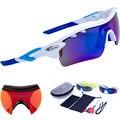 O Envio gratuito de 2016 Óculos Polarizados Óculos de Esportes Ao Ar Livre Óculos De Sol 5 Lente Intercambiável Esporte dos homens gafas oculos ciclismo