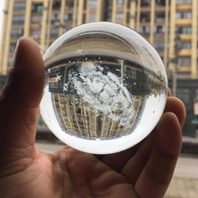 80MM Diameter Galaxy K9 Crystal Ball 3D Laser Engraved Home Decoration Accessories Astronomy Miniatures Gifts Bola