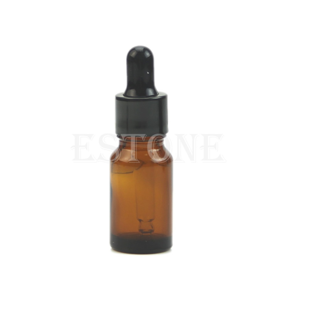 10ml Amber Glass Liquid Reagent Pipette Bottle Eye Dropper