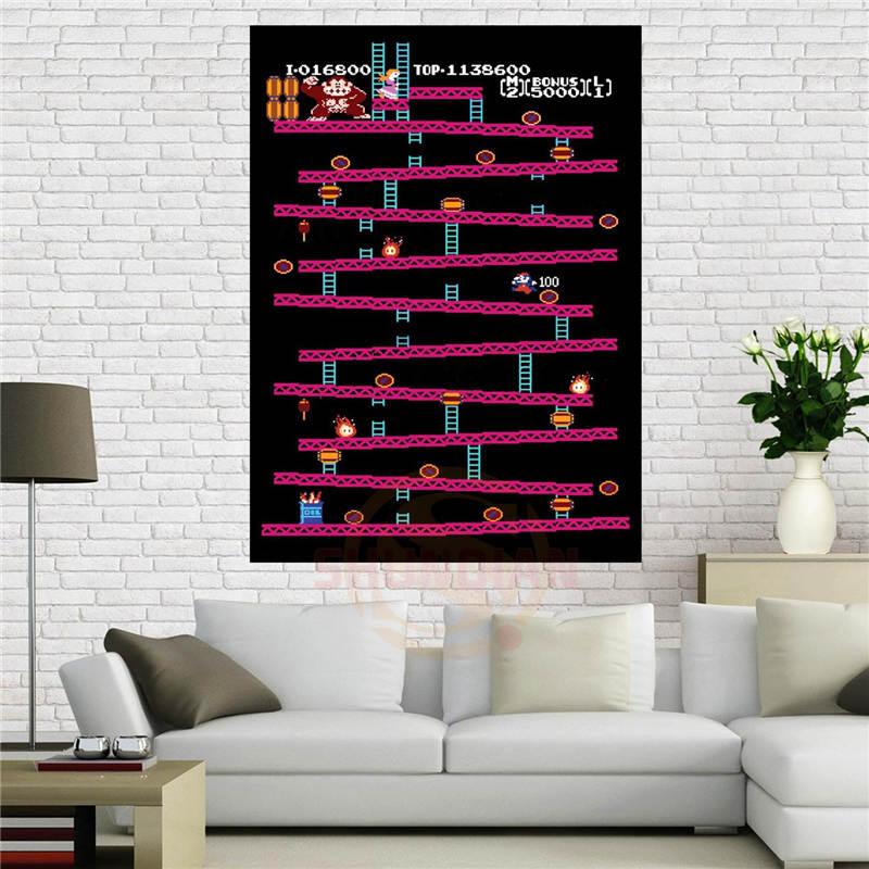 Donkey Kong - Retro Nintendo Gaming Poster (Classic Donkey Kong / NES) , 40x60 cm Home Decoration Custom canvas poster