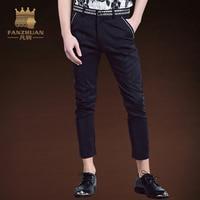 FANZHUAN Summer Mens Pencil Pants Elasticity Men's casual pants Men Trousers Normcore/Minimalist Lightweight Ankle Length Pants