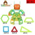 Littlove 58 unids tamaño mini robot diseñador magnética juguete enlighten educativos ladrillos diy bloques de construcción de juguetes para los niños