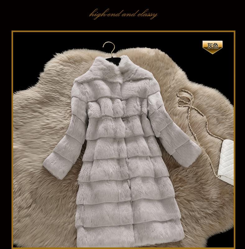 Top Quality Wave Cut Real Genuine Natural Full Pelt Whole Skin Rabbit Fur Coat Women Fashion Jacket  Custom Any Size