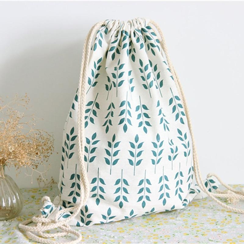 New Women Bag Canvas Drawstring Print Pattern Sport Travel Outdoor School Backpack Bags цена
