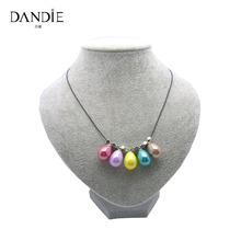 Dandie Trendy Handmade Necklace With Colorful Water Drop Geometric Resin Bead Design For Women